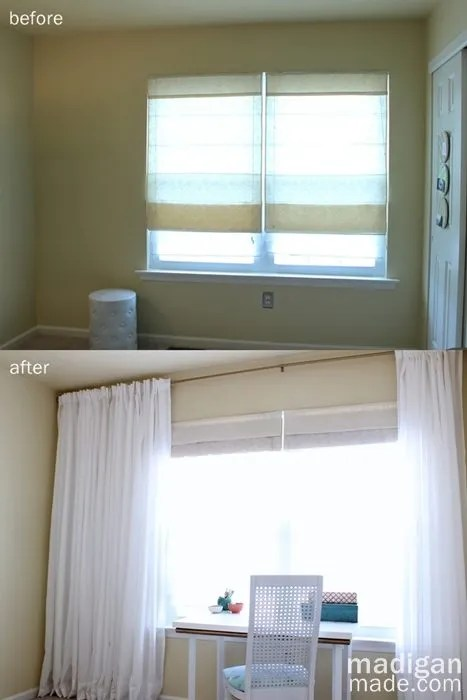 Tip: Hang The Curtains Across The Whole Wall To Make The Window Feel Larger