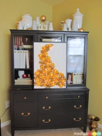 white and gold holiday decor