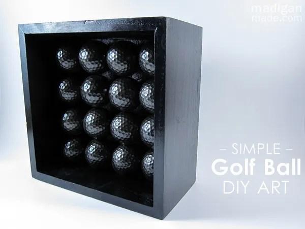 Simple and modern DIY golf ball art
