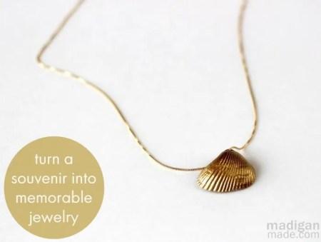 turn a seashell into a keepsake necklace