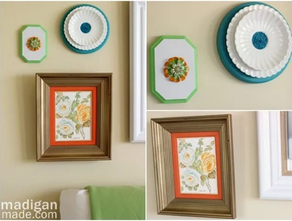 Create vintage DIY wall art by tweaking thrift store items with paint