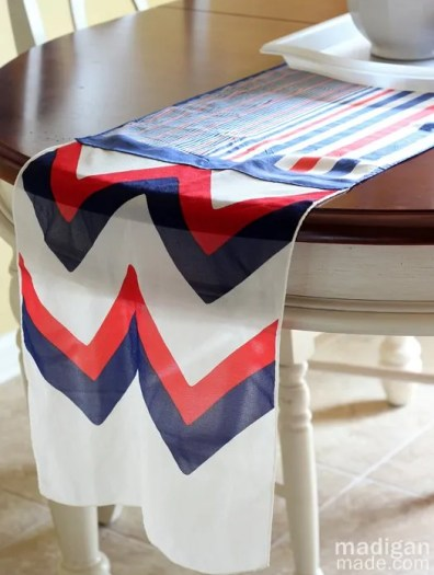 easy sew scarf a patriotic no sew table runner from scarves