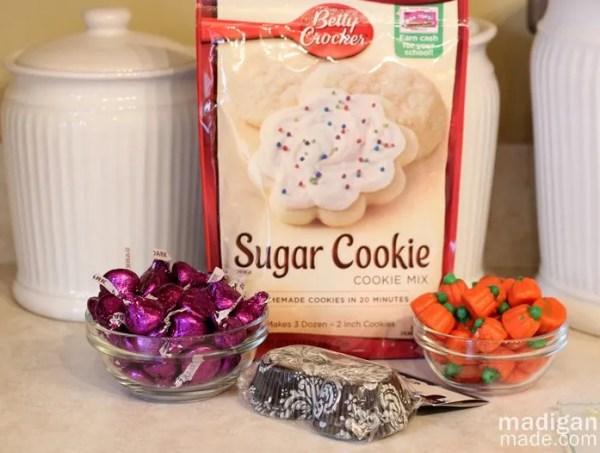 Mini Cookie Cupcake Ingredients