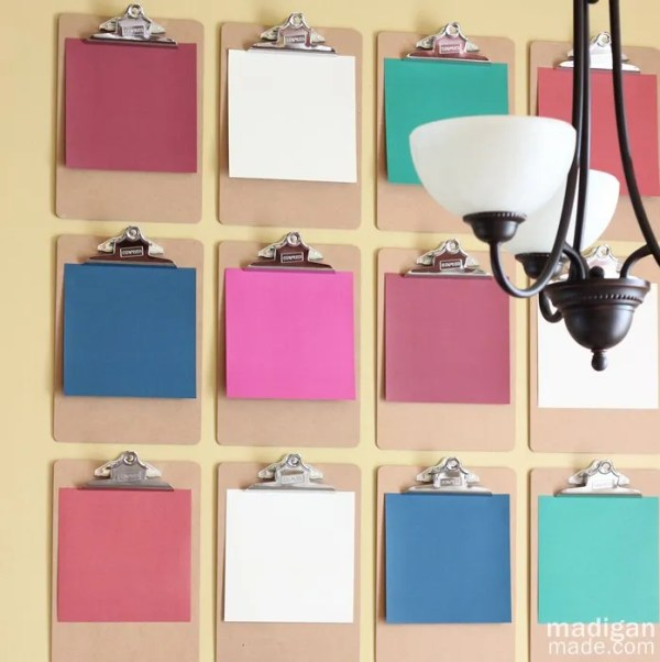 Love this Clipboard Wall Décor Art - details at madiganmade.com