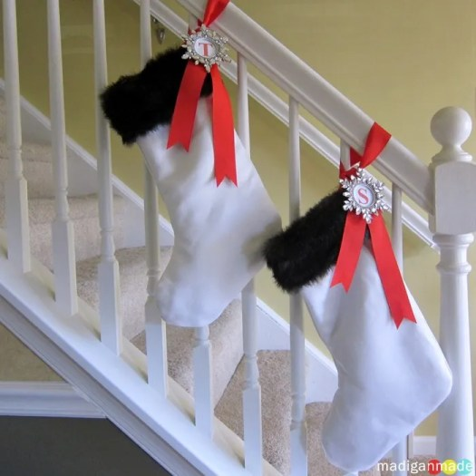 slipcovered stockings with wedding dress