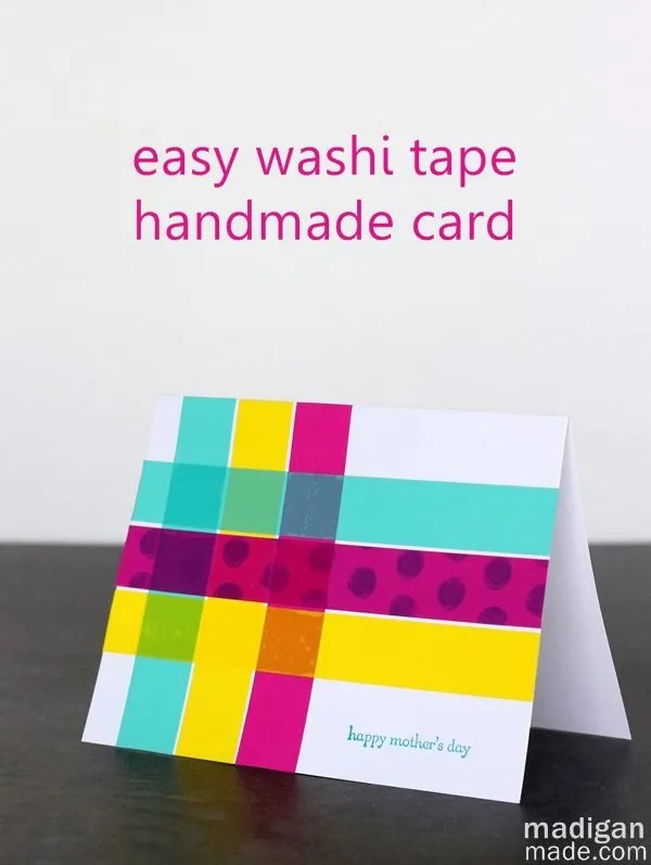 Simple washi tape cards | madigan made