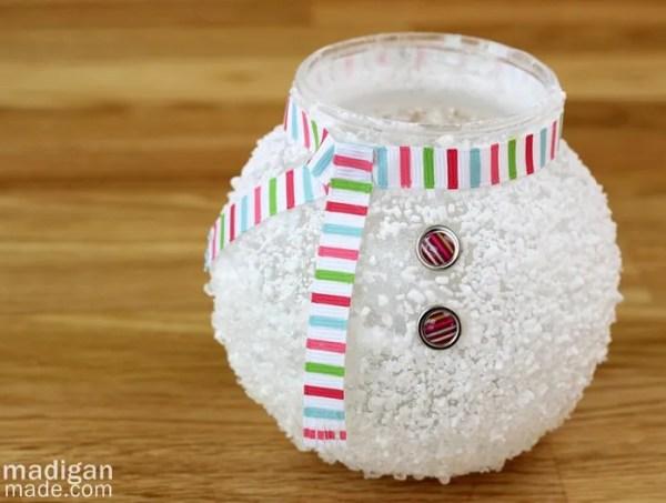 Epsom Salt Snowman Vase Rosyscription