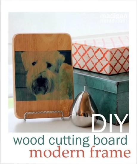 Make a Modern, Wood Mounted Photo Using Scrapbooking Attitude - madiganmade.com