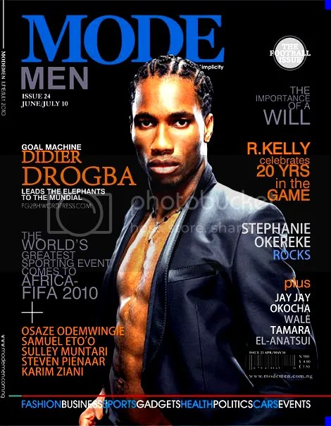 Drogba MODEMEN cover feature