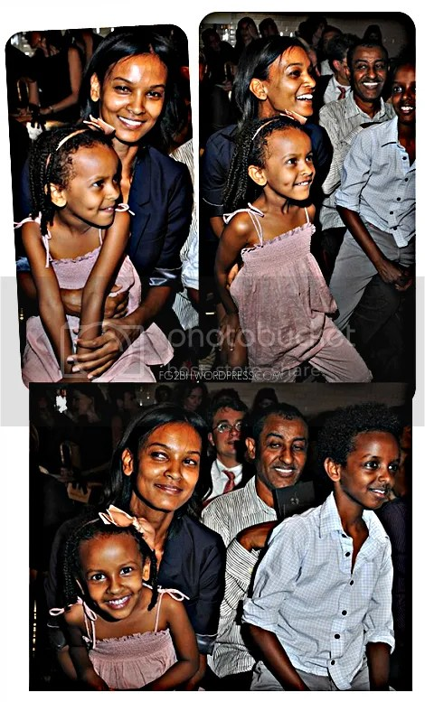 lIYA KEBEDE WITH HER FAMILY AT JEANPAUL GAULTIER SHOW