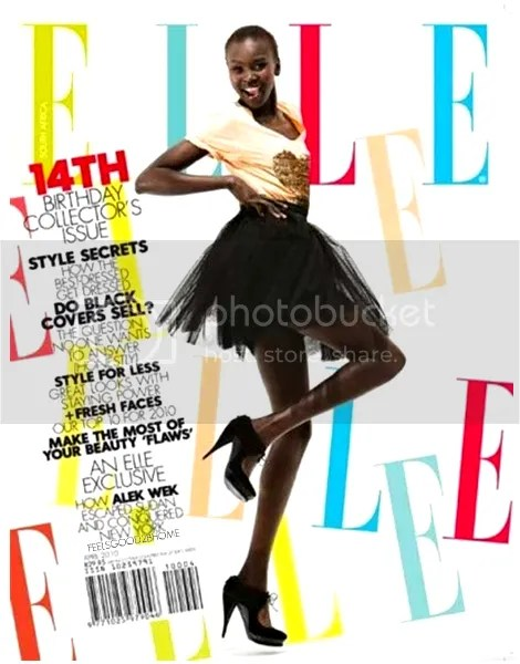 Alek Wek Graces Elle South Africa April 2010 Cover