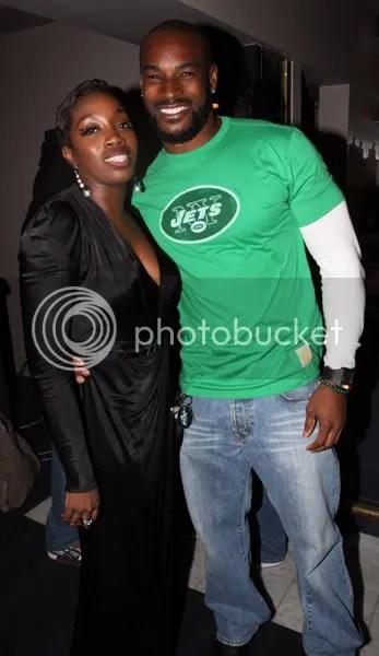 Estelle with Tyson Beckford