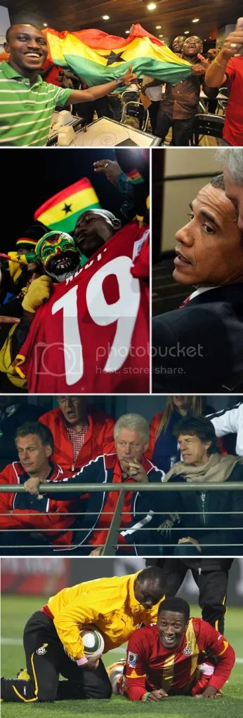 ghana goes onto semi-finals in the world cup 2010
