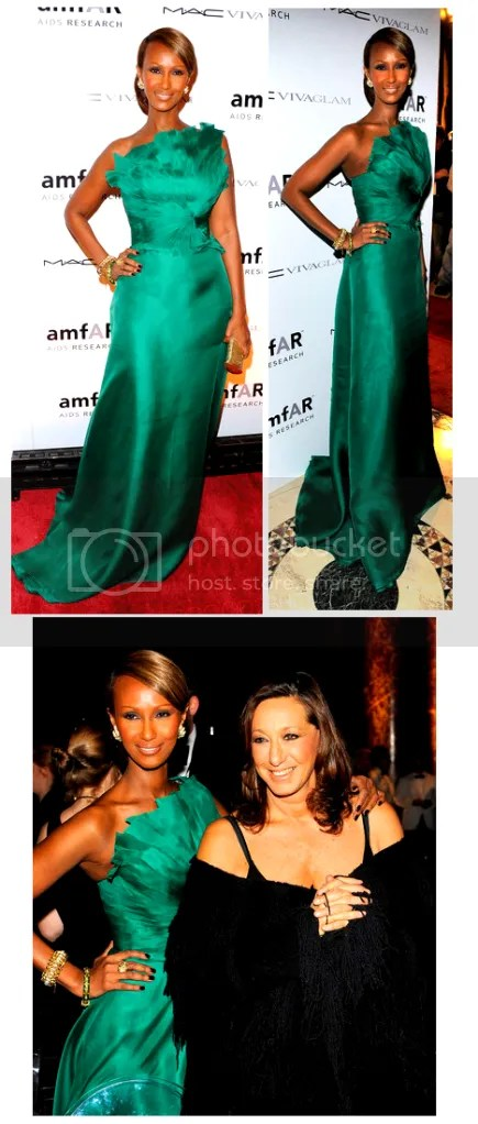 iman in angel sanchez gown