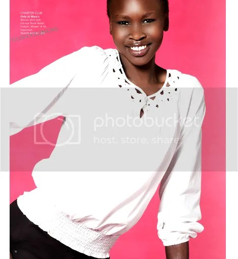 alek wek for macys spring 2010 fashion catalogue