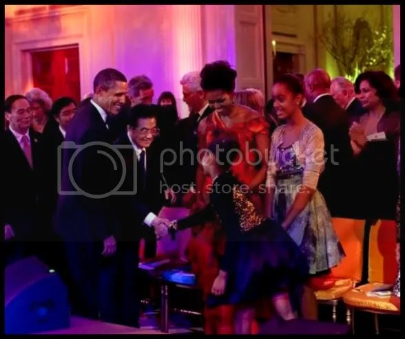 obamas at the state dinner
