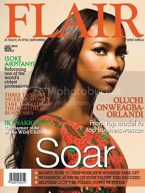 oluchi covers flair magazine july 2010