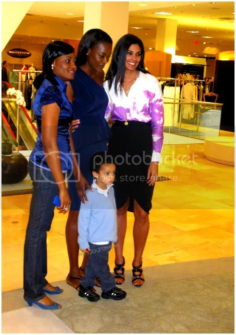 Oluchi Spotted at Houston's Neiman Marcus With Rachel Roy