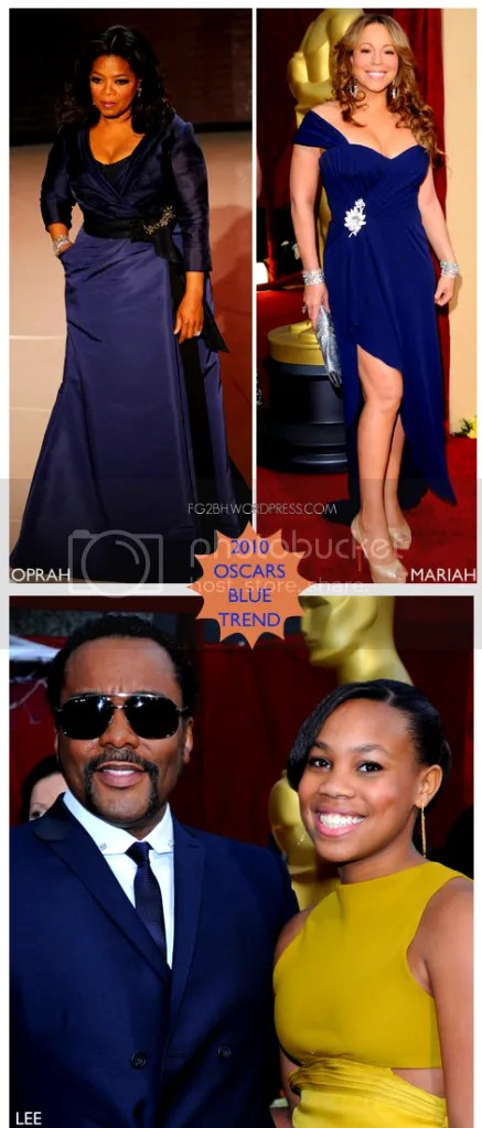 Oprah Lee Mariah all in blue