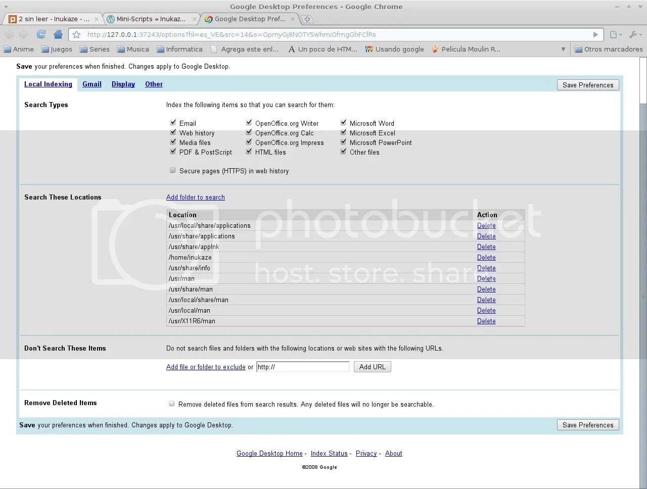 Linux Google Desktop