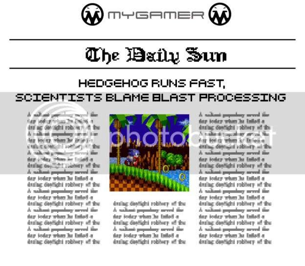 Sonic 1 MyGamer Daily Sun - Sonic 1 MyGamer Daily Sun – Sonic 1 SonicNewspaper