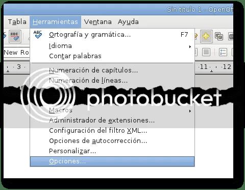 configurar opciones openoffice writer