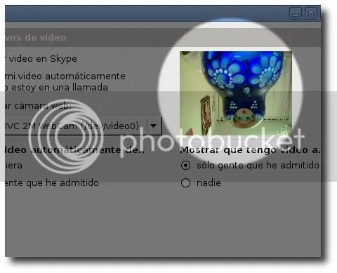 la imagen de la cámara sale del revés en skype