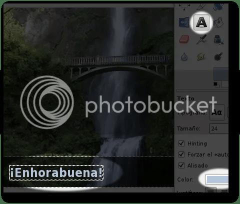 efectos de texto en imágenes con gimp