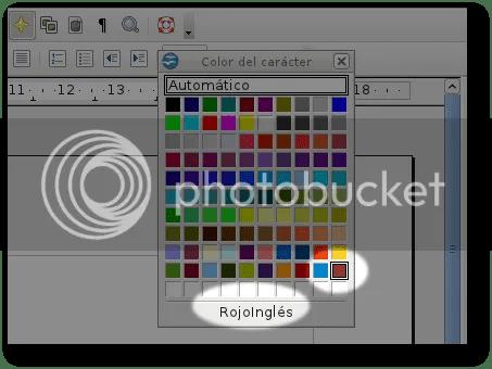elegir color recién creado openoffice writer