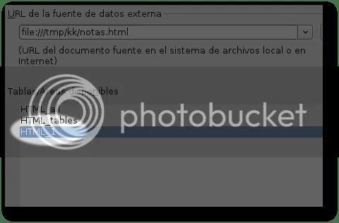 indicar tabla html a vincular