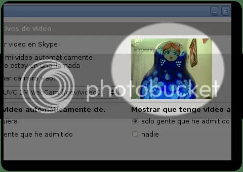 cómo resolver el problema de la webcam en skype linux