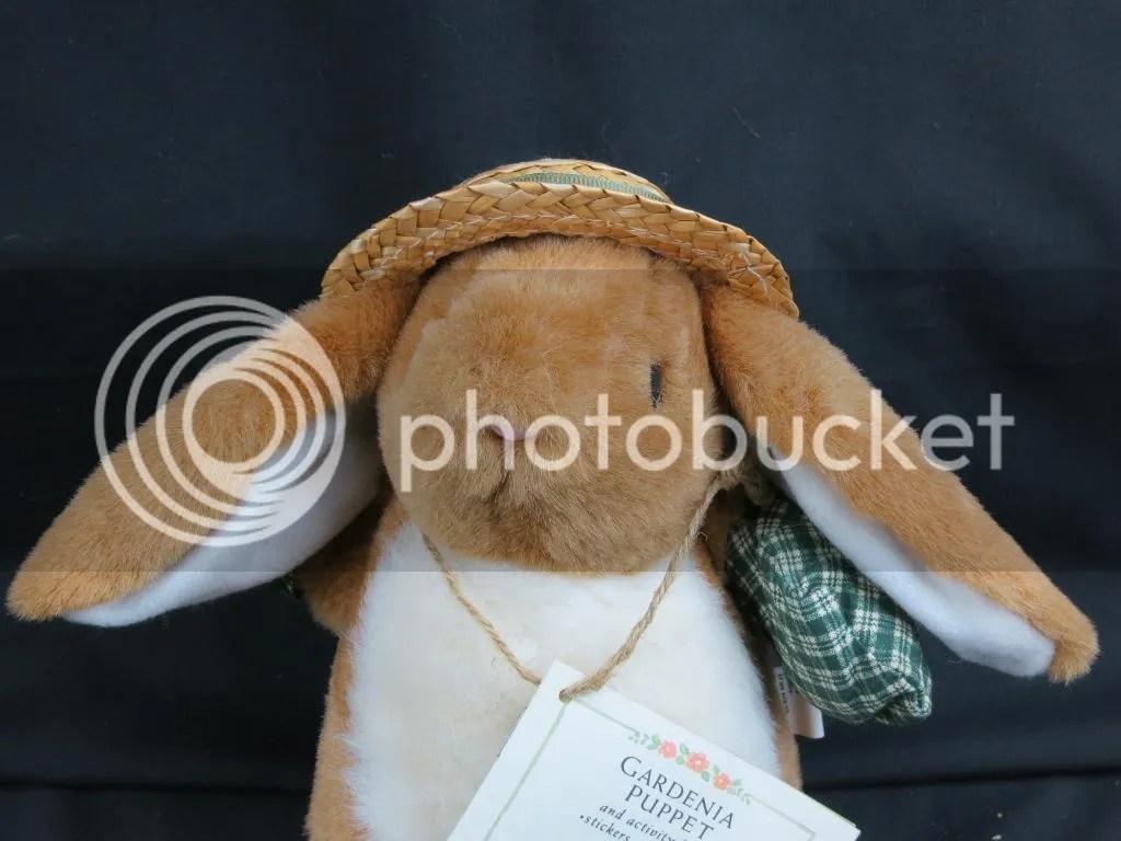 New Vintage Gardenia Puppet Bunny Rabbit Hallmark Plush Stuffed Animal Book Toy