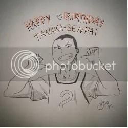 Redraw: Tanaka from Haikyuu!!