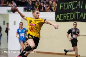 Bebiana Sabino foi a melhor marcadora do encontro, ao apontar 9 golos
