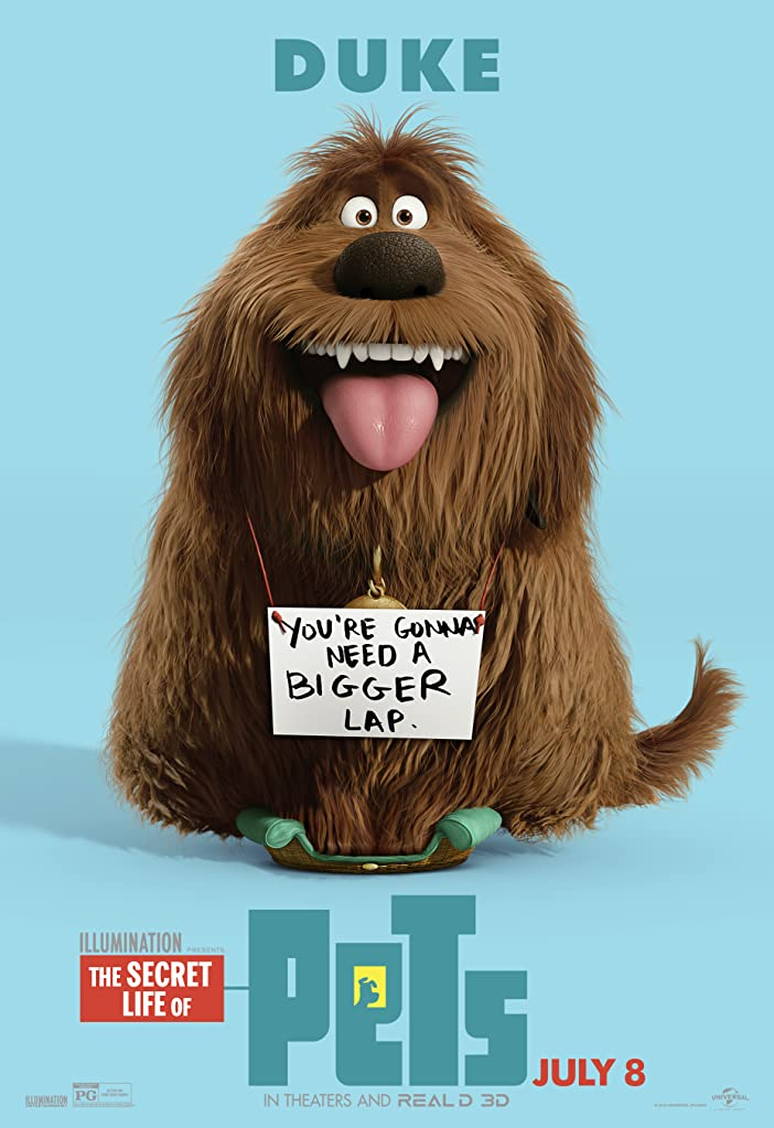 New The Secret Life of Pets Character Posters Celebrates National Pet Day 3