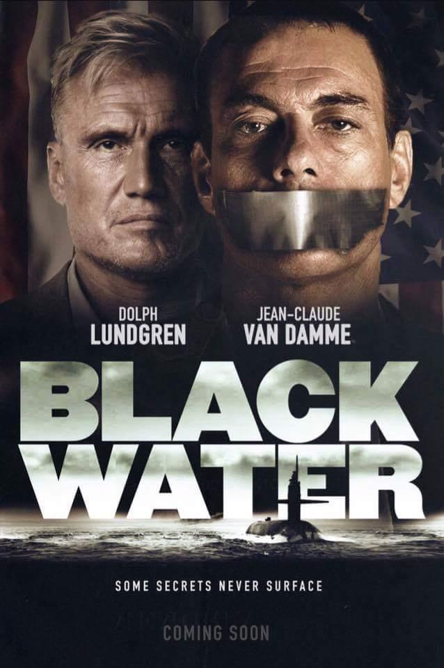 Dolph Lundgren and Jean-Claude Van Damme in Black Water (2018)