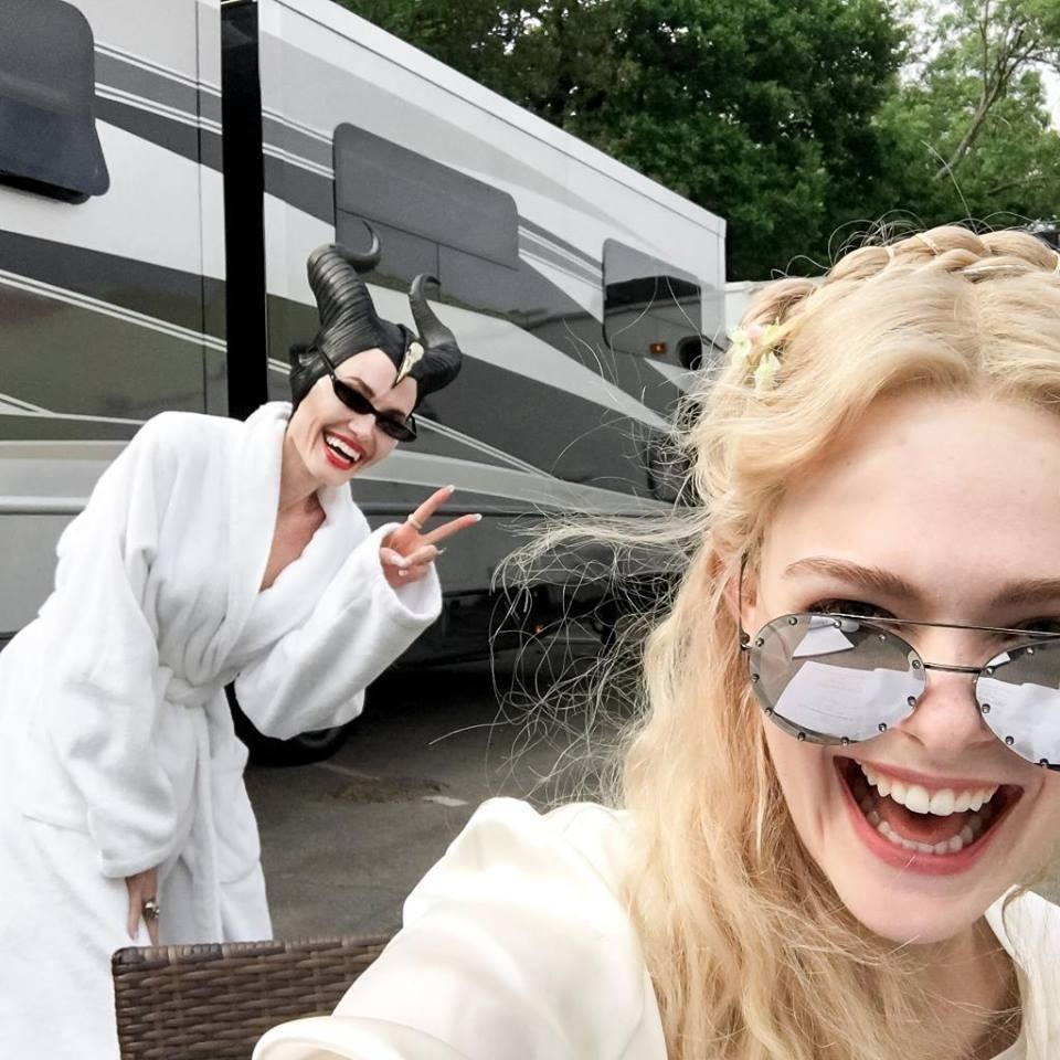 Angelina Jolie and Elle Fanning in Maleficent 2