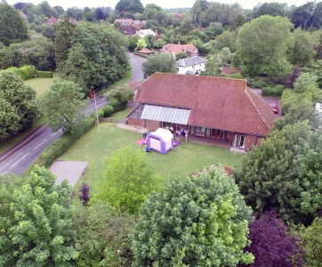Itchen Abbas and Avington Village Hall from above ...