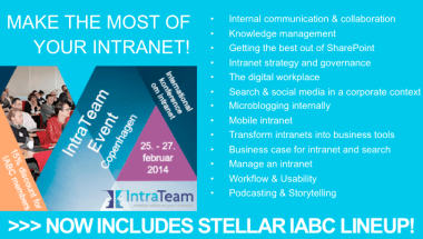 Intrateam Intranet event IABC Lineup