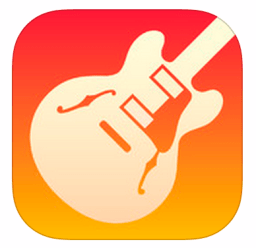 Garageband icon showing guitar.
