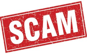 image of the word scam.