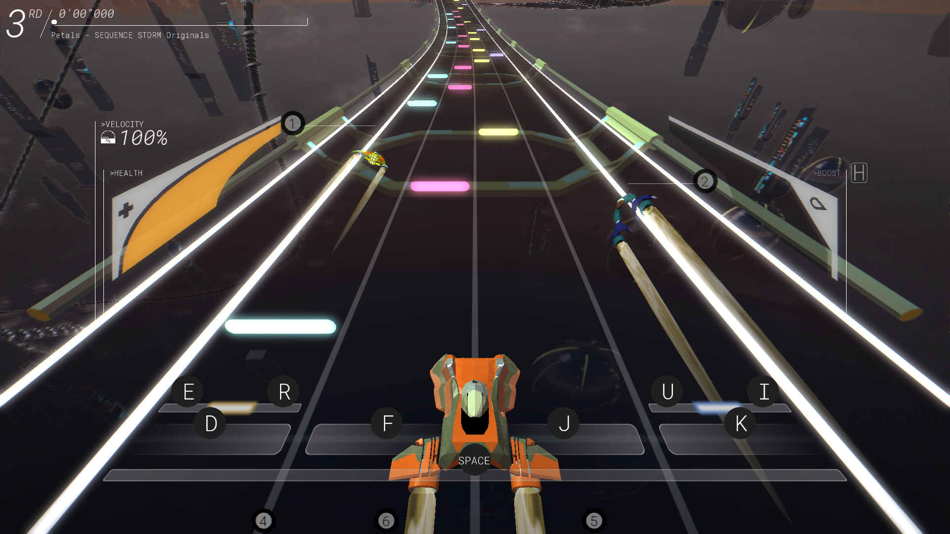 Sequence Storm racing game