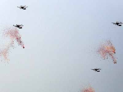 Army showcases swarm drones at Army Day Parade