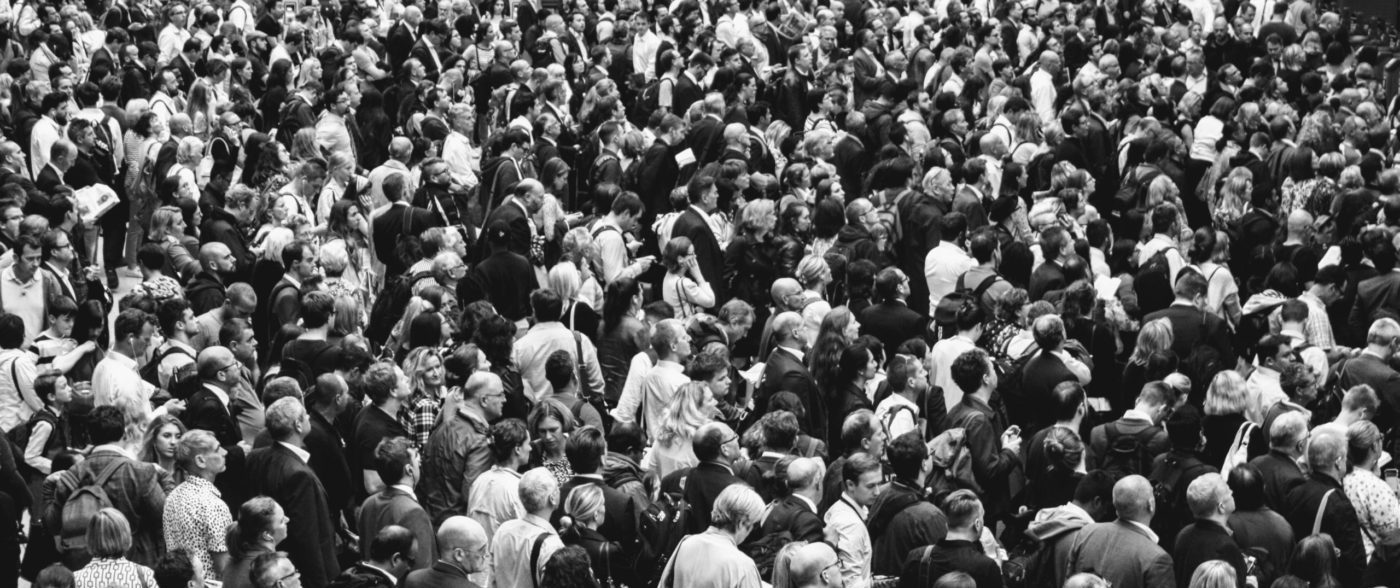 Populist unilateralism: Crowd of people