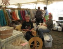 Carol and Karen enjoying the Fair.