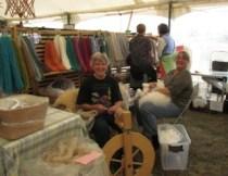 Carol and Karen enjoying the Fair.