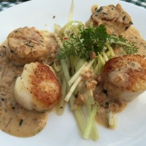 Second Course: Scallops with Dijon Beurre Blanc sauce