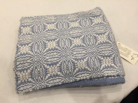 Debra's angora handspun, handwoven, angora blanket