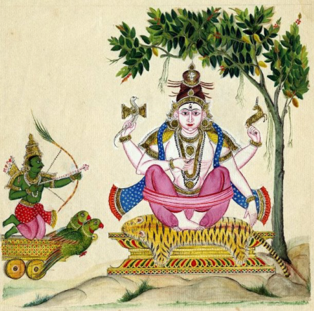 Kamadeva and Shiva