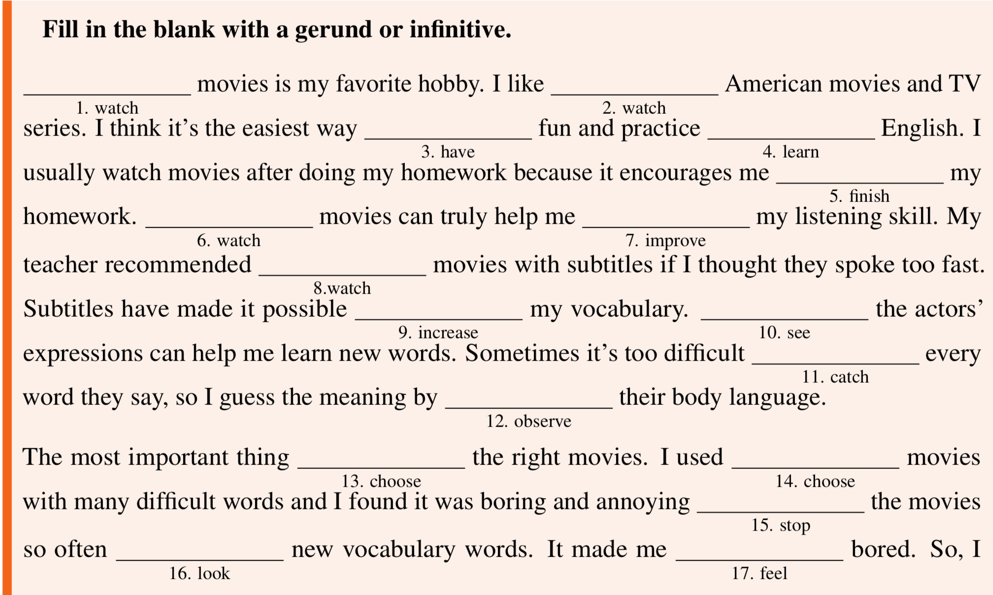 Grammar Skills Gerund And Infinitive It S All Greek To Me